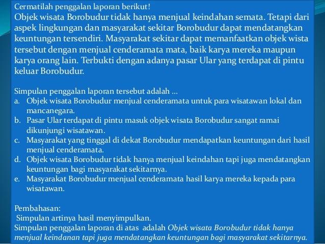 PEMBAHASAN CONTOH SOAL UJIAN NASIONAL (UN) BAHASA INDONESIA SMK 2015 Slide 2