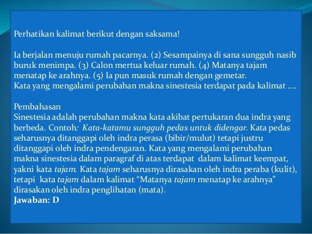Cuplikan Soal Soal Bahasa Indonesia Rakhma Ainurrofiq Azmi