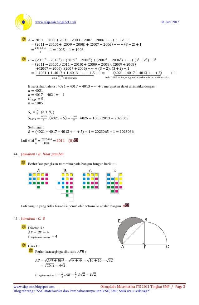 Soal Olimpiade Sd Dan Pembahasan Soal Dan Pembahasan Olimpiade Matematika Sd Myideasbedroom Com