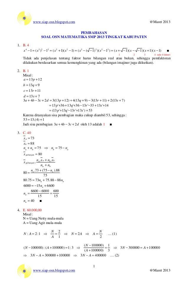soal olimpiade matematika tingkat smp pdfgolkes