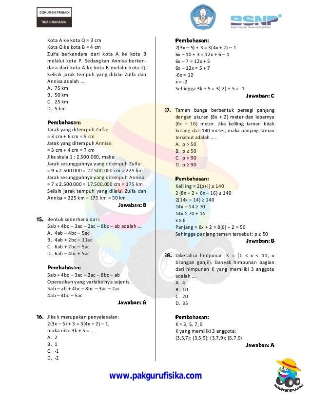 Contoh Soal Dan Pembahasan Bilangan Pangkat Pecahan - Guru ...