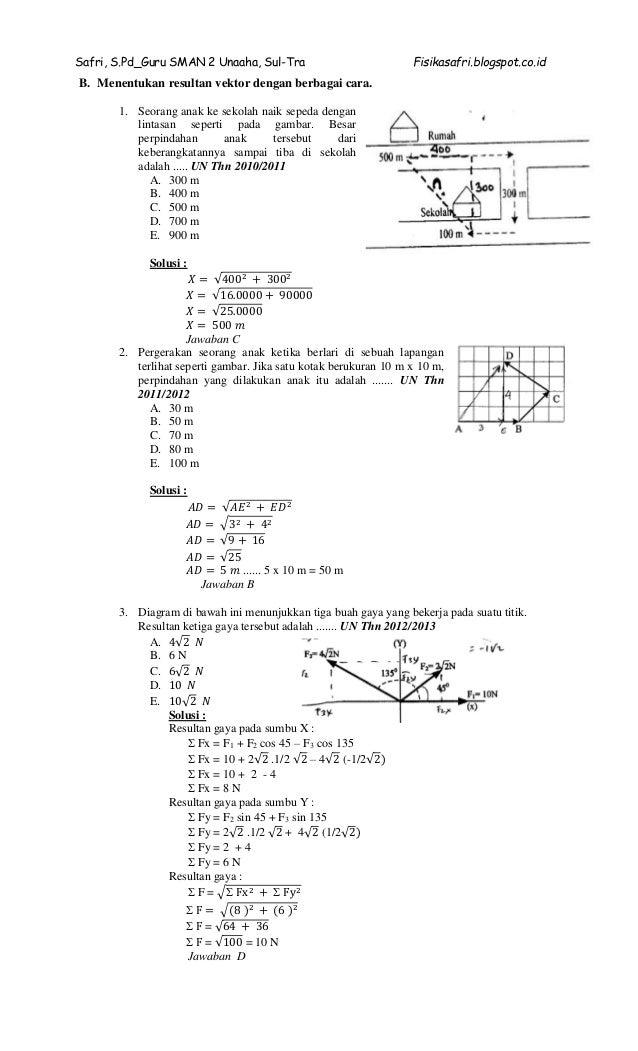 Pembahasan Soal Un Fisika Sma
