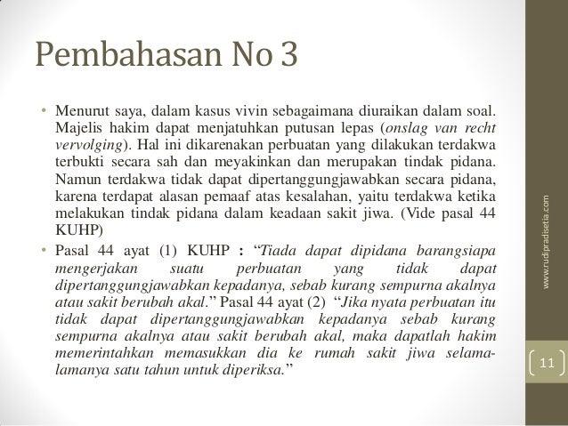Pembahasan Soal Uas Hukum Acara Pidana Fh Unpas 2014