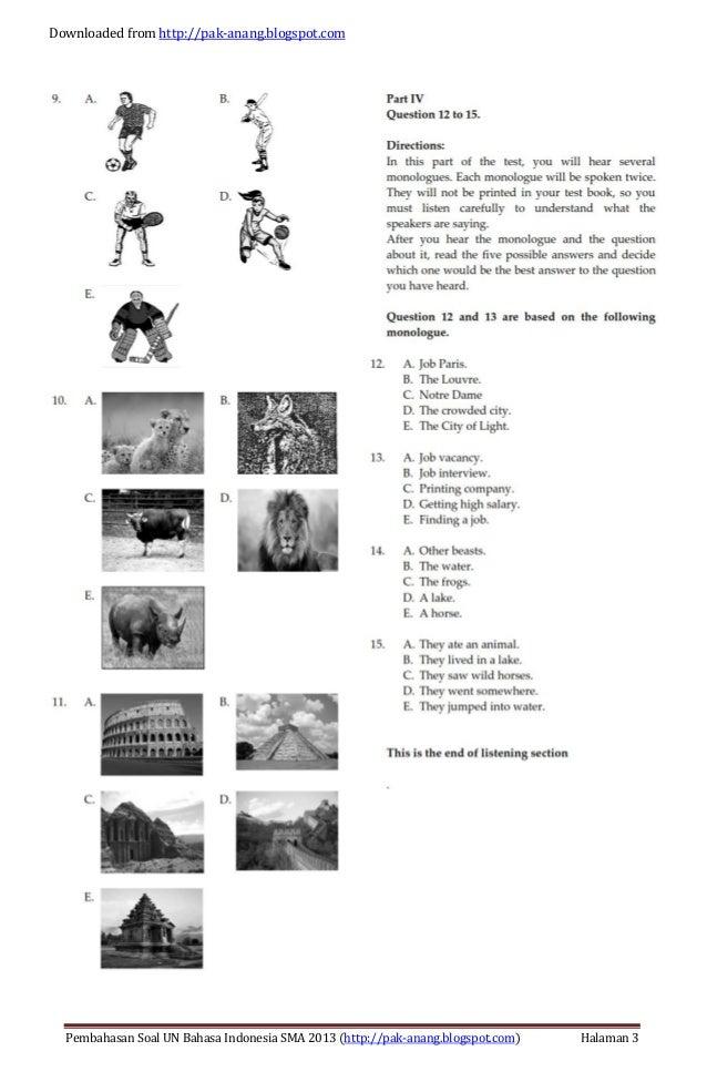 Pembahasan Soal Un Matematika Program Ipa Sma 2013 Trik Pembahasan Soal Un Bahasa Inggris Sma 2013