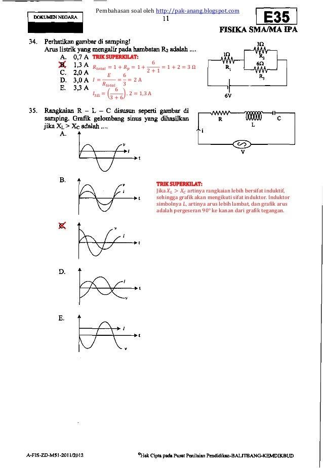 Pembahasan Soal Un Fisika Sma 2012 Paket E35 Zona D