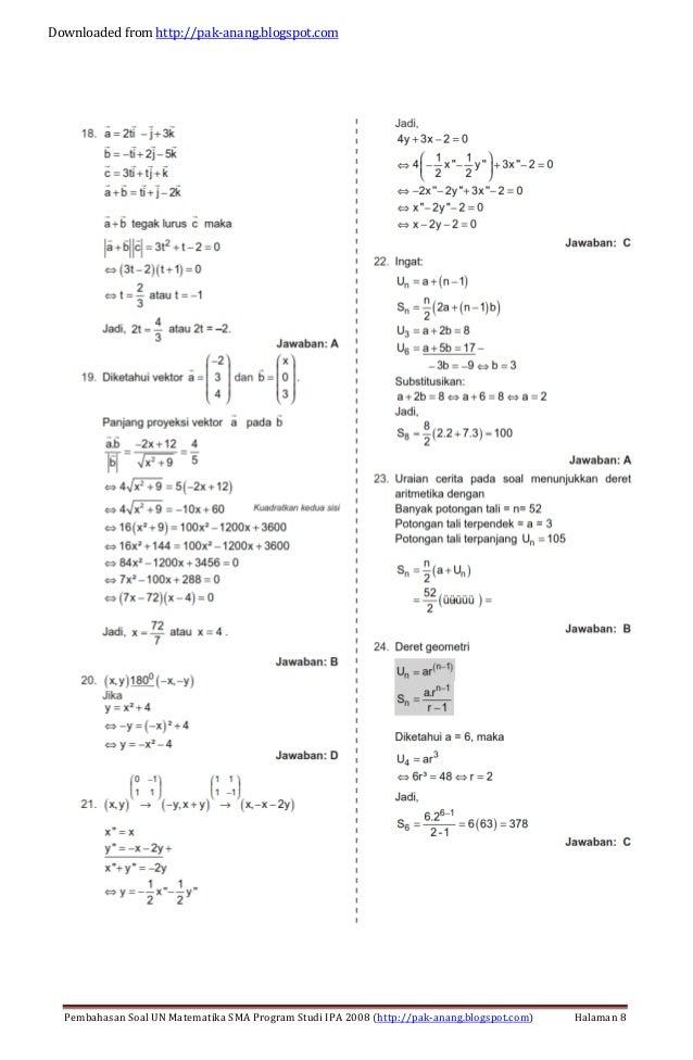 Pembahasan Soal Un Matematika Program Ipa Sma 2013 Trik Pembahasan Soal Un Matematika Sma