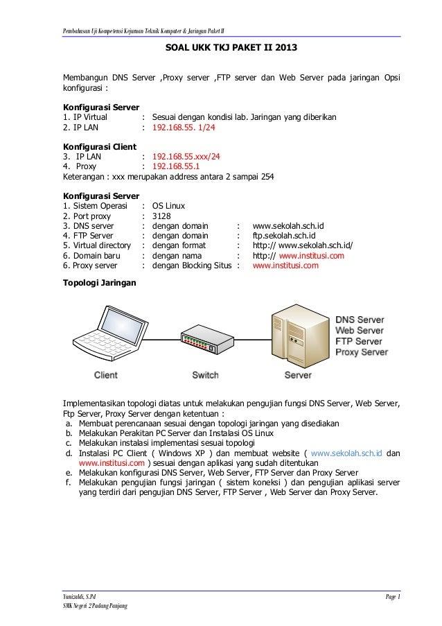 Pembahasan Uji Kompetensi Kejuruan Teknik Komputer & Jaringan Paket II                                            SOAL UKK...