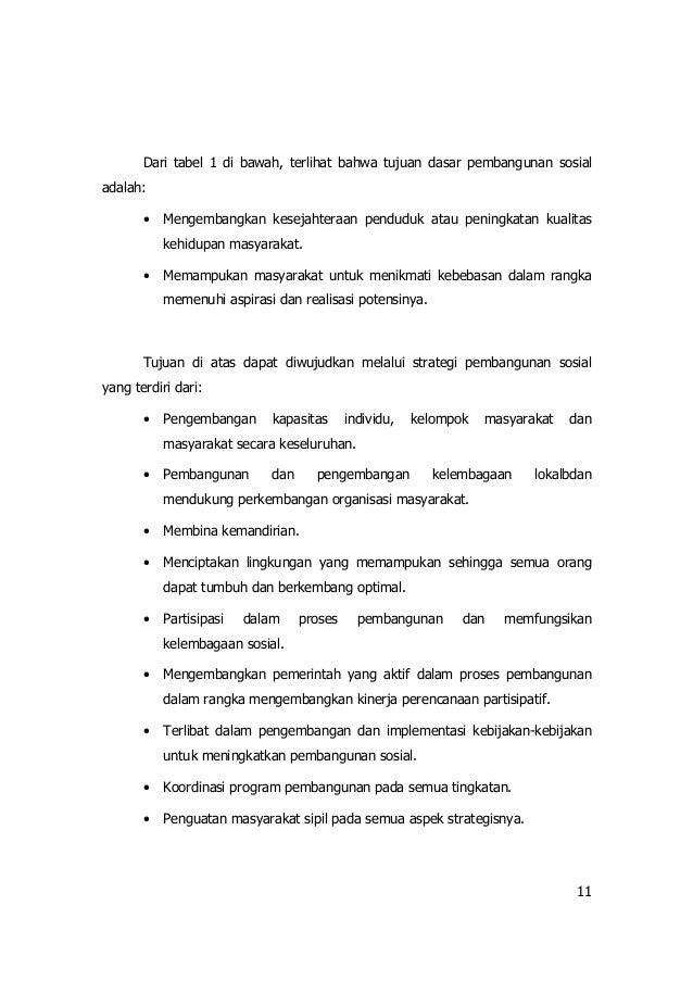 Pembangunan Sosial Dan Kesejahteraan Sosial Di Indonesia