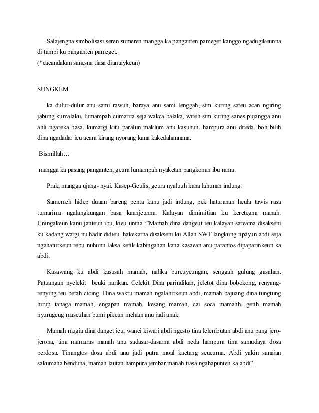 Contoh Teks Mc Pernikahan Bahasa Sunda Bagikan Contoh