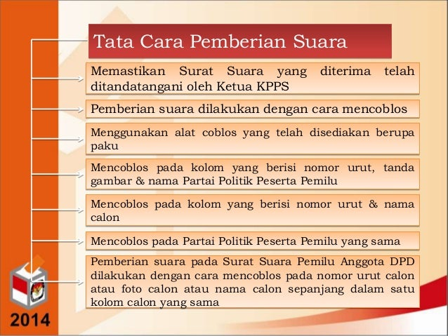 Pembekalan Saksi Pemilu Rebo Pan 9 April 2014 Oleh Drs Soberi M Si