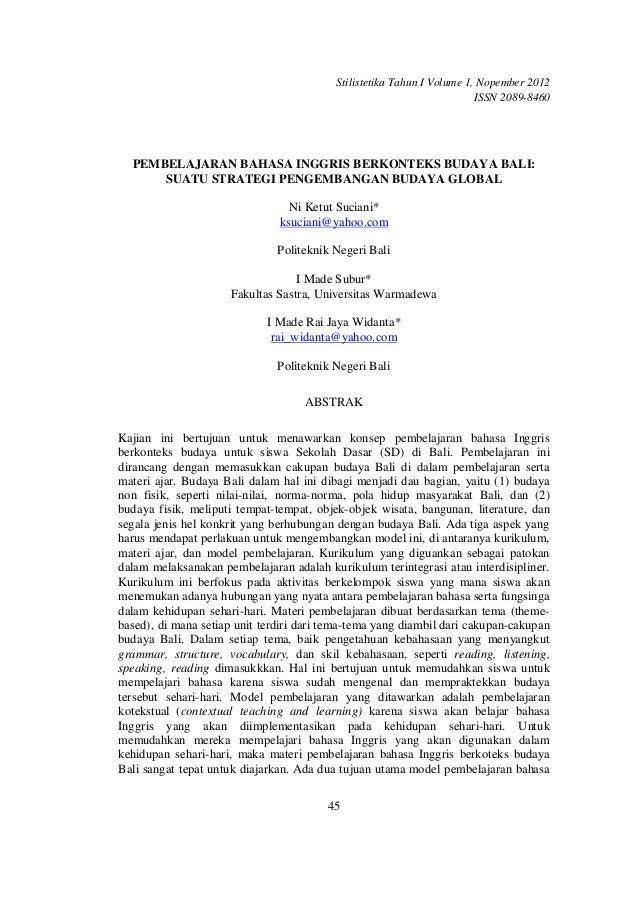 Stilistetika Tahun I Volume 1, Nopember 2012                                                                        ISSN 2...