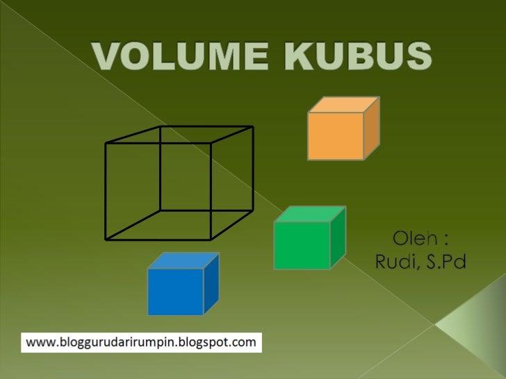 Pembelajaran matematika kelas vi sd volume kubus