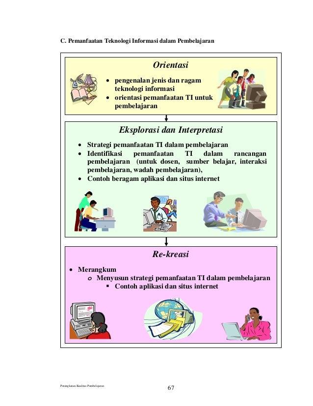 C. Pemanfaatan Teknologi Informasi dalam Pembelajaran Orientasi • pengenalan jenis dan ragam teknologi informasi • orienta...