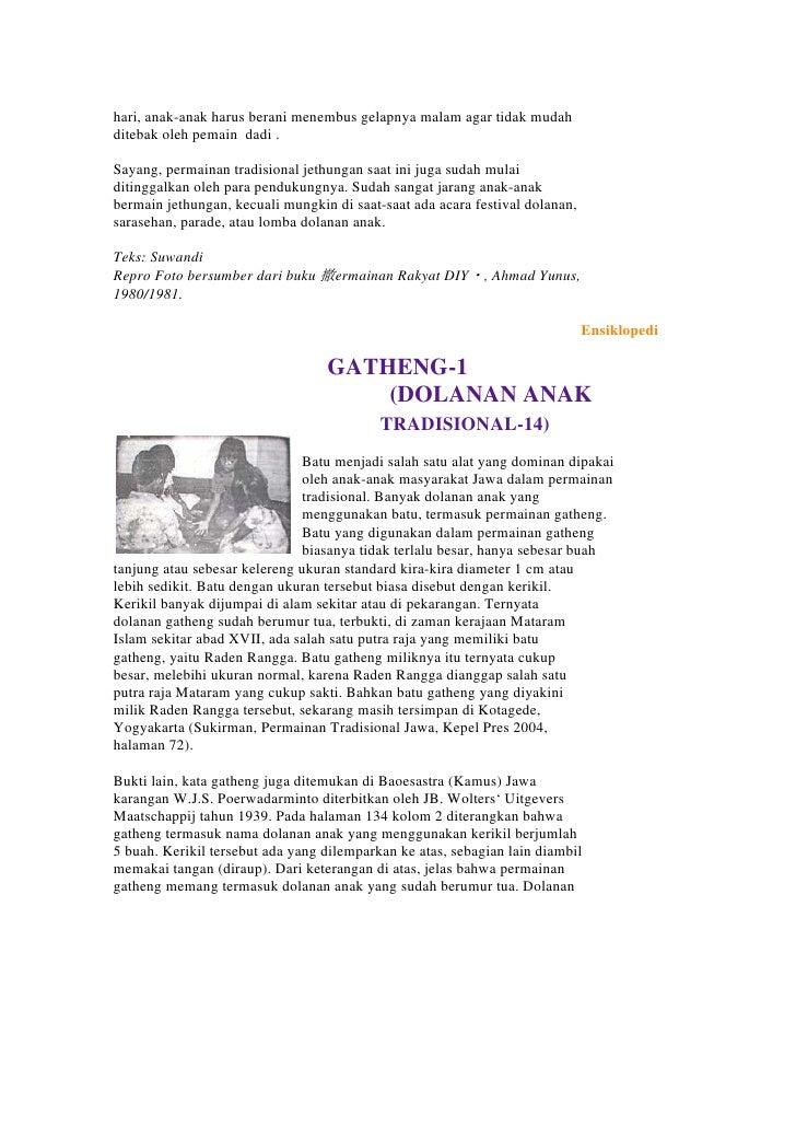 Pembelajaran Sd Mulok Dolanan Anak Tradisional
