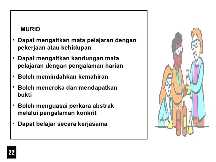 <ul><li>MURID </li></ul><ul><li>Dapat mengaitkan mata pelajaran dengan    pekerjaan atau kehidupan </li></ul><ul><li>Dapat...