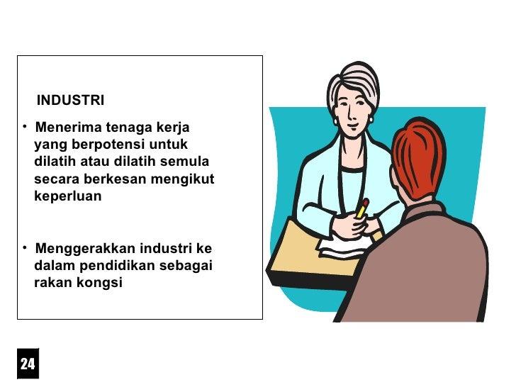 <ul><li>INDUSTRI </li></ul><ul><li>Menerima tenaga kerja    yang berpotensi untuk    dilatih atau dilatih semula    secara...