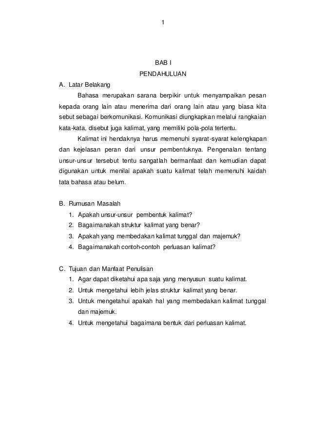 Pembentukan dan perluasan kalimat