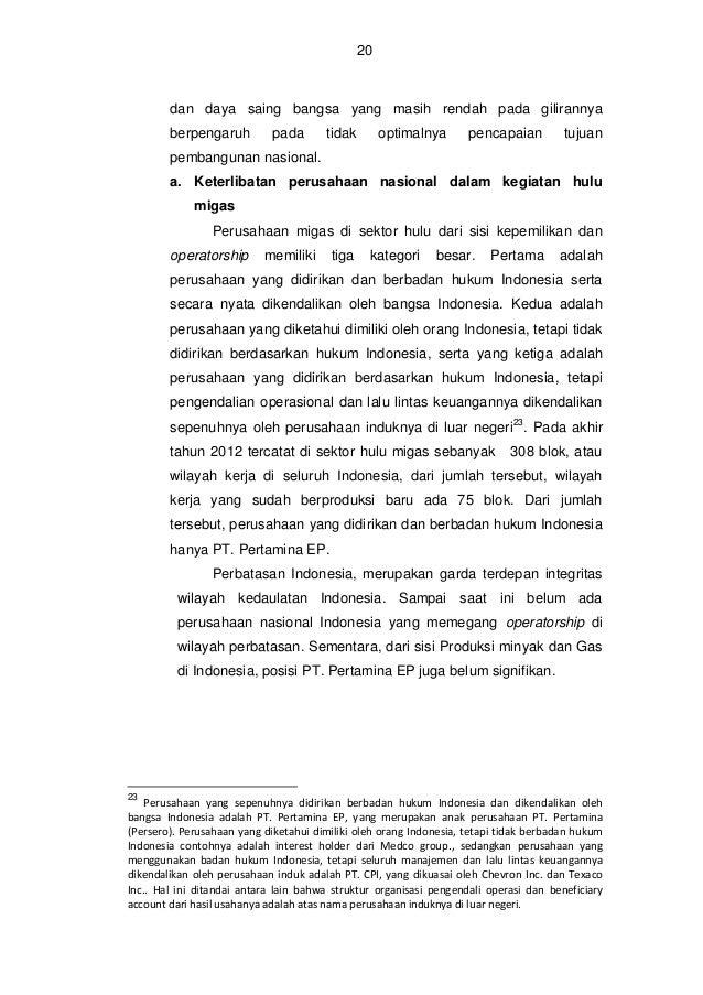 21  Gambar 1 : Positioning PT Pertamina EP dalam Produksi migas di Indonesia . (sumber : Pertamina , 2013). Posisi  Produk...