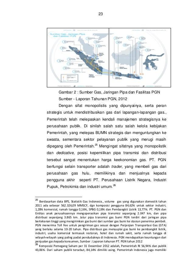24  Gambar 3 : Rencana jaringan gas PT. Pertamina Sumber - PT. Pertamina (Persero), 2013 c.  Penyerapan alokasi migas dan ...