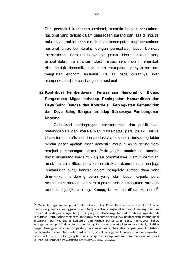 Pemberdayaan perusahaan nasional di bidang pengelolaan migas   e book