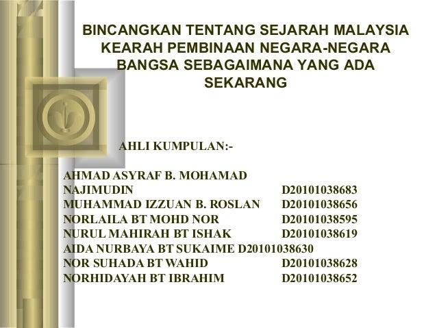 AHLI KUMPULAN:- AHMAD ASYRAF B. MOHAMAD NAJIMUDIN D20101038683 MUHAMMAD IZZUAN B. ROSLAN D20101038656 NORLAILA BT MOHD NOR...