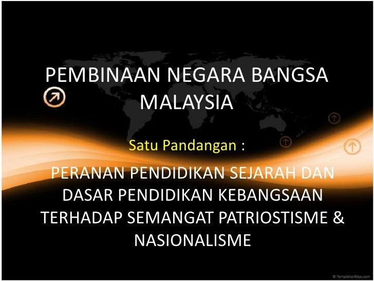 Pembinaan Negara Bangsa Malaysia