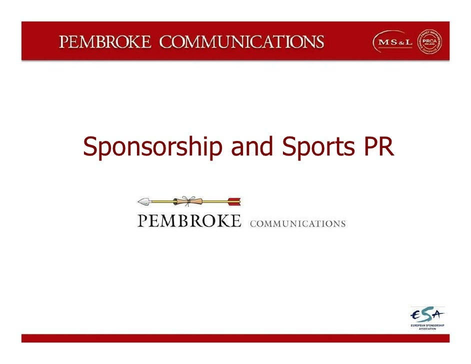 Sponsorship and Sports PR