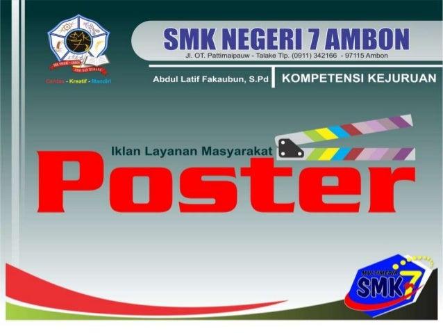 Pembuatan Iklan Layanan Masyarakat Poster