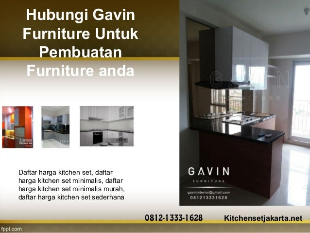 Harga Kitchen Set Murah Di Gavin Furniture