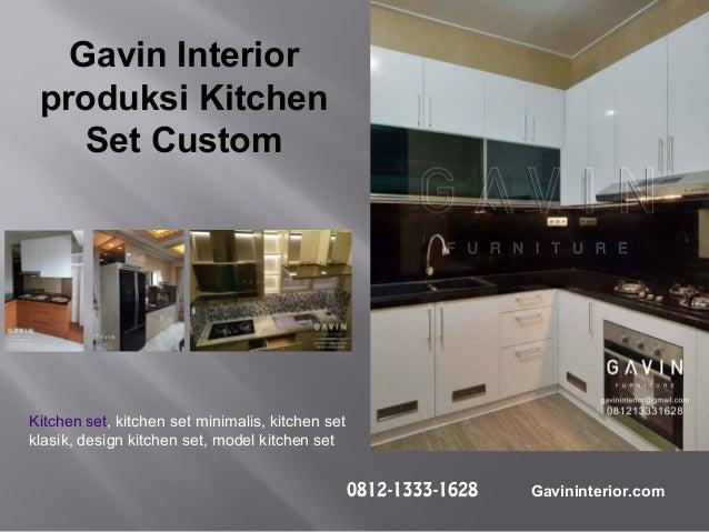 Pembuatan Kitchen Set Minimalis Modern Gavin Interior