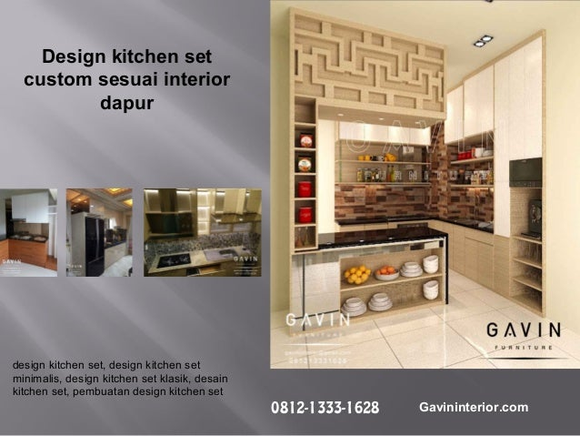 Pembuatan Kitchen Set Minimalis Modern Gavin Interior