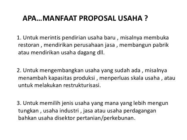 Pembuatan Proposal Usaha (Bussines Plan)