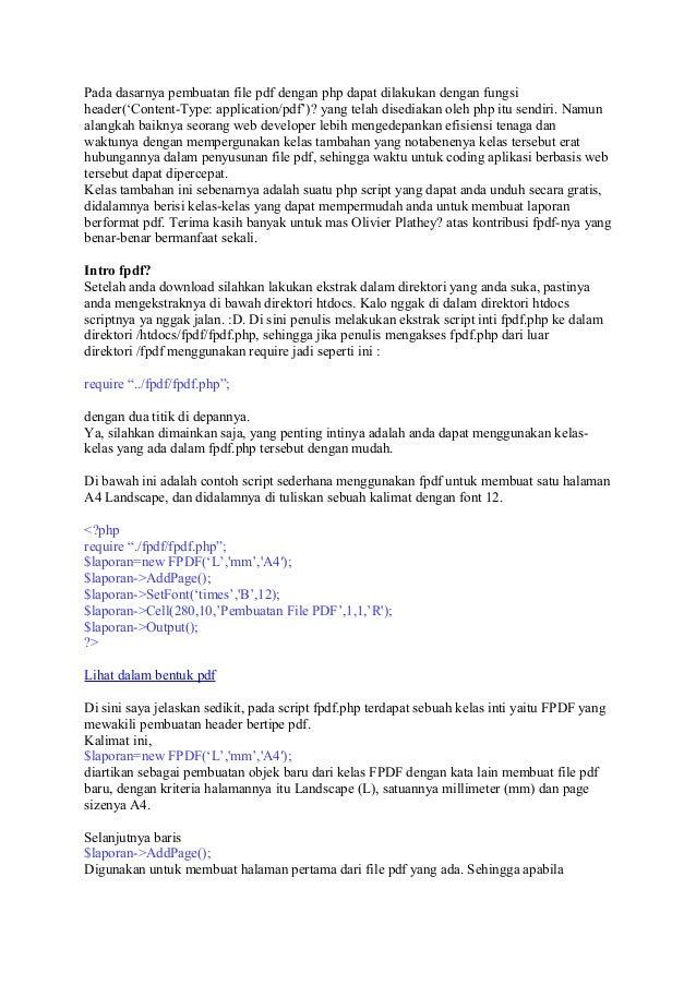 Pdf php header file