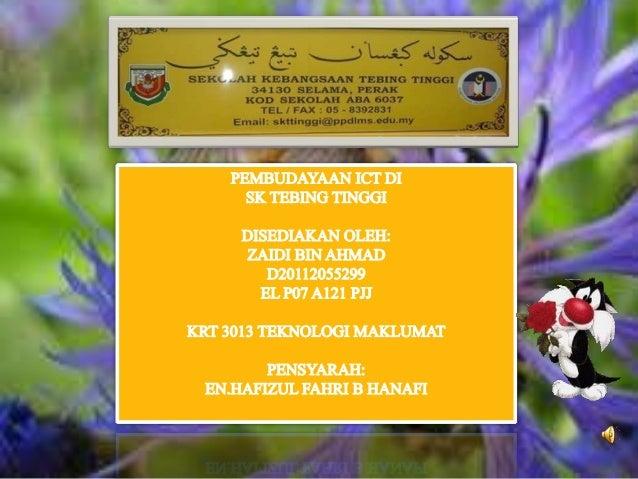 SK Tebing Tinggi merupakan sekolah tertua di kawasan Selama,Perak. Ia diwujudkan atas kesedaraan beberapa pemimpinmasyarak...