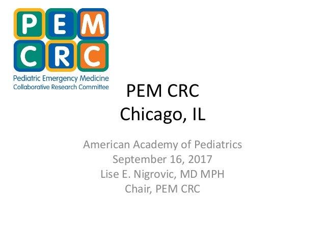 PEM CRC presentation @ AAP NCE 2017 09 16