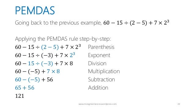 Pemdas The Proper Order Of Mathematical Operations