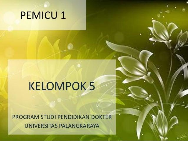 PEMICU 1     KELOMPOK 5PROGRAM STUDI PENDIDIKAN DOKTER   UNIVERSITAS PALANGKARAYA