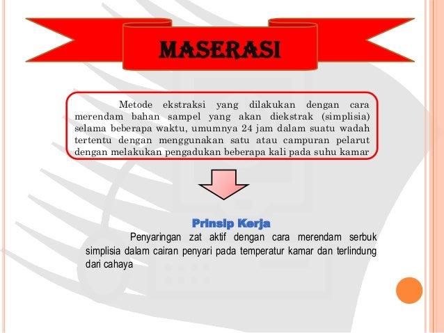 Contoh pemisahan campuran dengan ekstraksi pdf
