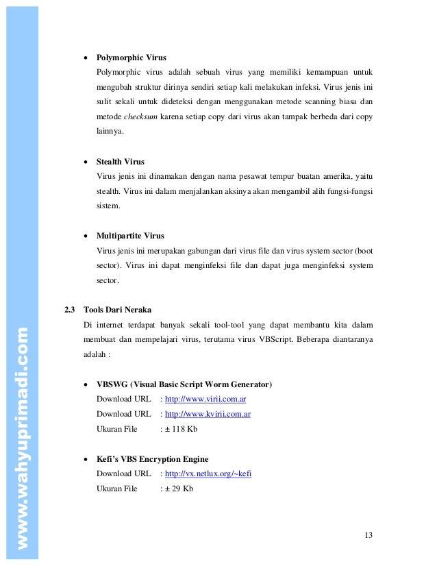 Pemrograman Virus Menggunakan VBScript