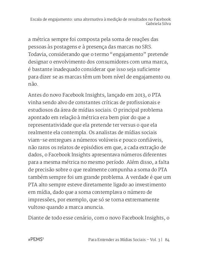 """Para Entender as Mídias Sociais – Vol. 3   85 SRS parou de utilizar o tão criticado """"people talking about"""" e passou a cham..."""