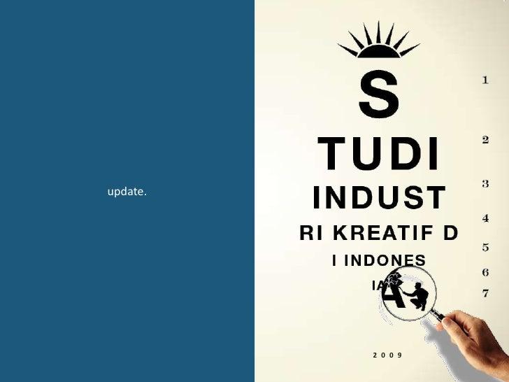 Perkembangan Industri Kreatif di Indonesia Tahun 2009