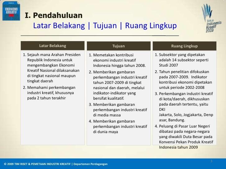 Perkembangan Industri Kreatif di Indonesia Tahun 2009 Slide 3