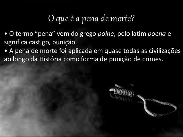 Artigo pena de morte