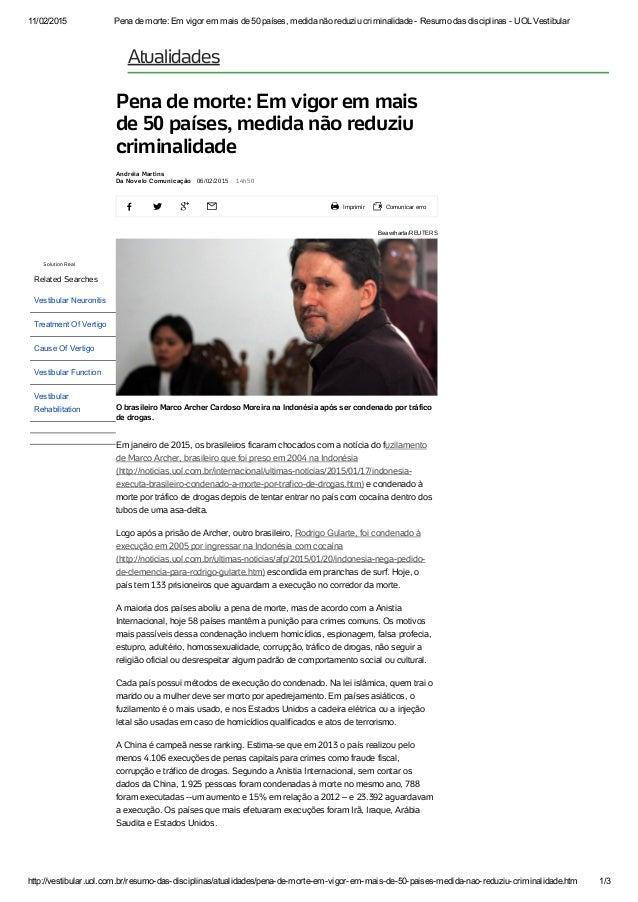 11/02/2015 Penademorte:Emvigoremmaisde50países,medidanãoreduziucriminalidadeResumodasdisciplinasUOLV...