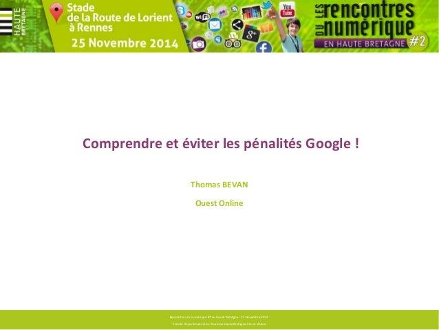 Agence  Conseil en stratégie digitale  Rencontres du numérique #2 en Haute Bretagne - 25 Novembre 2013  Comité Département...