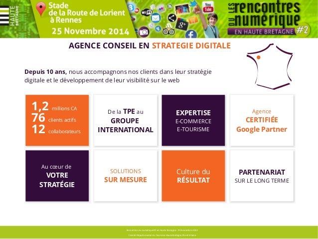 NOS SOLUTIONS  Rencontres du numérique #2 en Haute Bretagne - 25 Novembre 2013  Comité Départemental du Tourisme Haute Bre...