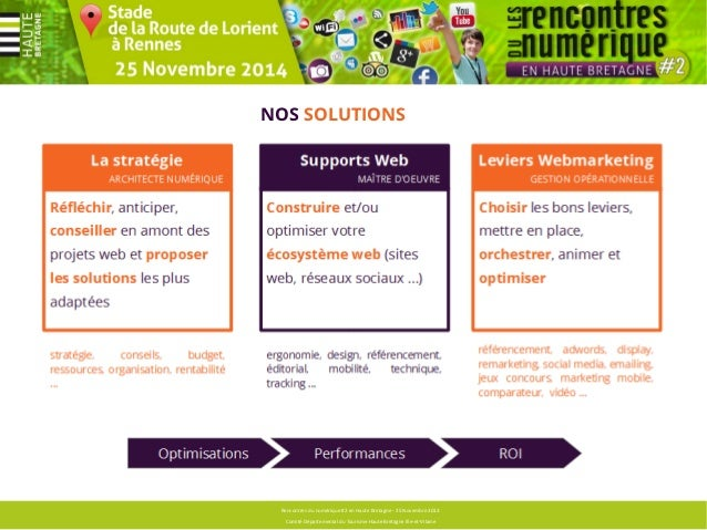 Sommaire principal  Rencontres du numérique #2 en Haute Bretagne - 25 Novembre 2013  Comité Départemental du Tourisme Haut...