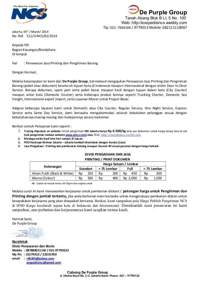 Contoh Proposal Penawaran Jasa - Job Seeker