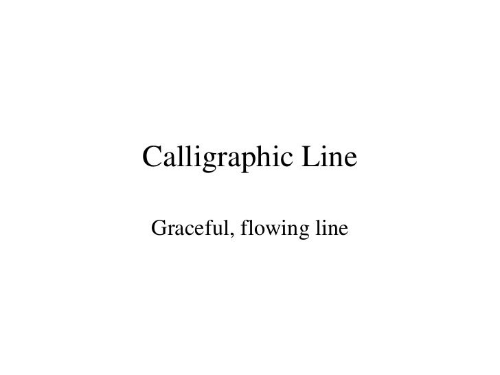 Calligraphic Line Drawing 1