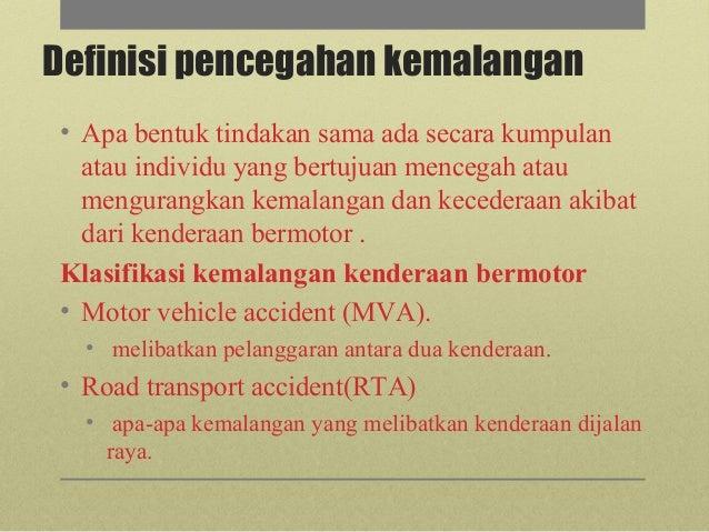 Pencegahan Kemalangan Kenderaan Bermotor